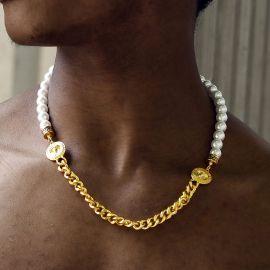 Banshee Pearl Cuban Chain in Gold