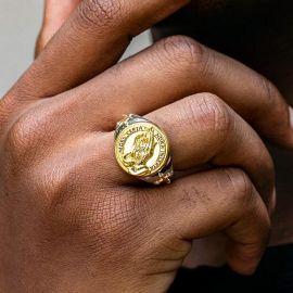 Two Tone Praying Hands Ring