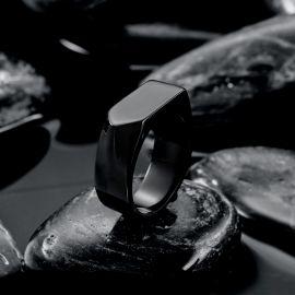 Simple Black Arrow Stainless Steel Ring