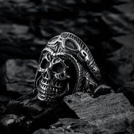 Retro Skull Stainless Steel Ring