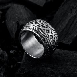 Chain Knot Stainless Steel Ring
