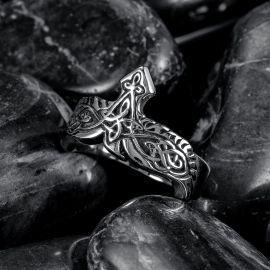 Eagle Viking Celtic Knot Stainless Steel Ring
