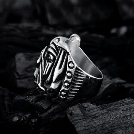 Canine Anubis Stainless Steel Ring