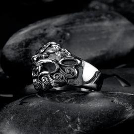 Demon Tiger Stainless Steel Ring