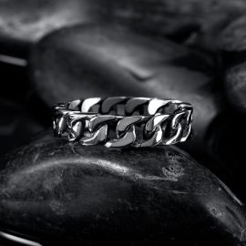 Connect Chain Stainless Steel Ring