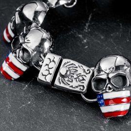 Flag Skull Stainless Steel Bracelet