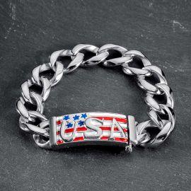 USA Flag Stainless Steel Bracelet