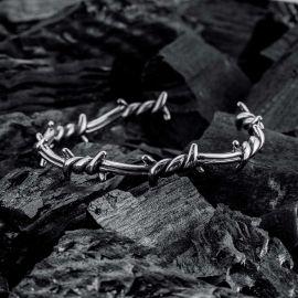 Opening Twist Thorns Stainless Steel Bracelet
