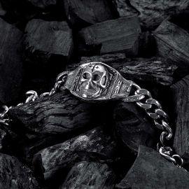 Cross Skull Stainless Steel Bracelet