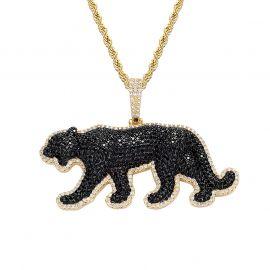 Iced Walking Panther Pendant