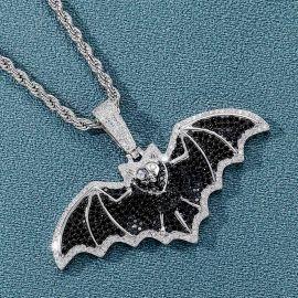 Iced Flying Bat Pendant