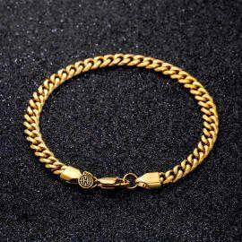 6mm Cuban Bracelet in Gold
