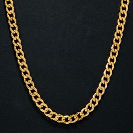 9mm Stainless Steel Cuban Chain in Gold