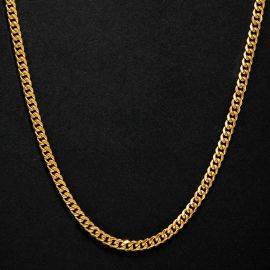 6mm Stainless Steel Cuban Chain in Gold