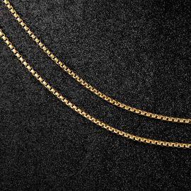 3mm Round Box Chain in Gold