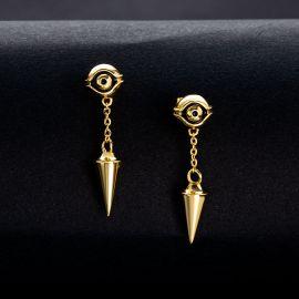 Eye of Ra Cron Drop Earrings