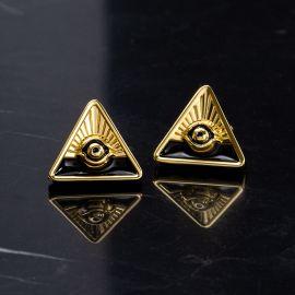 Eye of God Triangle Studs Earrings
