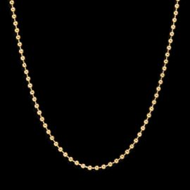 3mm Steel Bead Chain in Gold