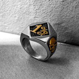 Biker 1%ER Stainless Steel Skull Ring