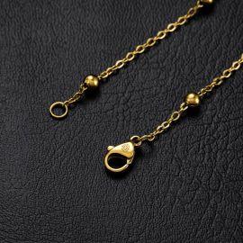 3mm Interval Beads Bracelet in Gold