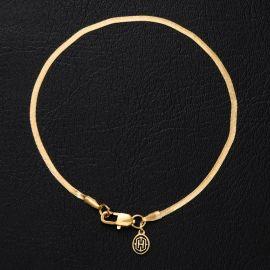 2mm Herribone Bracelet in Gold