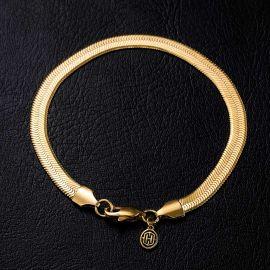6mm Herribone Bracelet in Gold
