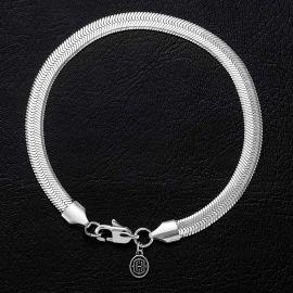 6mm Herribone Bracelet in White Gold