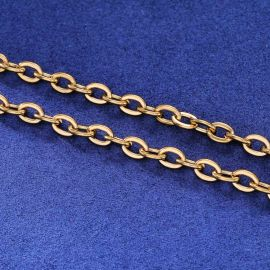 3mm Rolo Chain in Gold