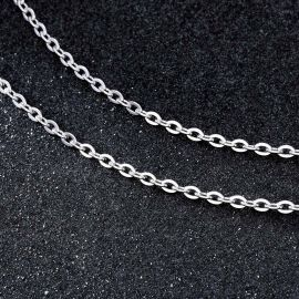 3mm Rolo Chain in White Gold