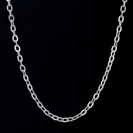 5mm Rolo Chain in White Gold