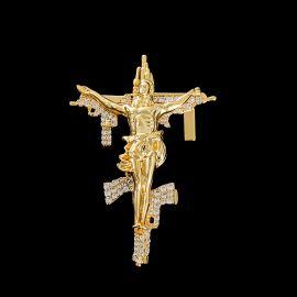 Jesus Christ Crucifix Gun Cross Pendant