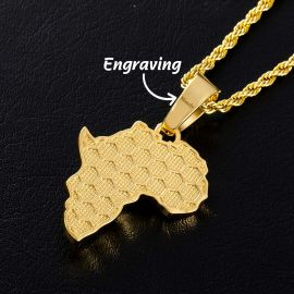 Fist Power in Pan African Pendant