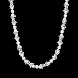 Thorns Barb Wire Pearl Necklace