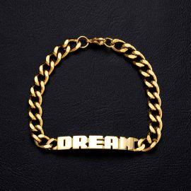 8mm DREAM Cuban Bracelet in Gold