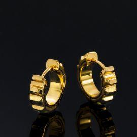 Gear Earrings in Gold