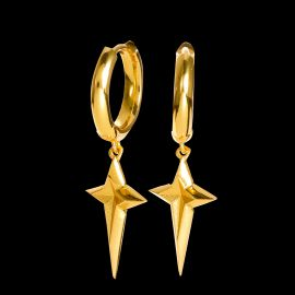 Four-pointed Star Dangle Earrings