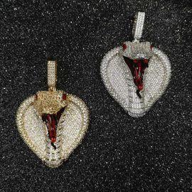 Iced King Cobra Head Pendant