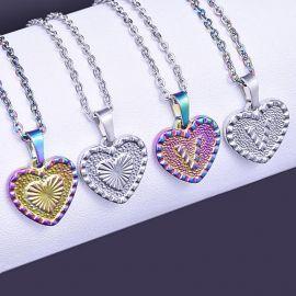 Initial Letter Heart Pendant