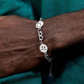 Smile Face Titanium Steel Cuban Bracelet