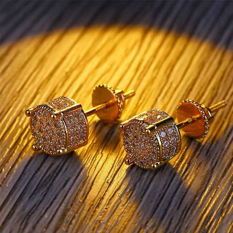 Iced Earring in Gold