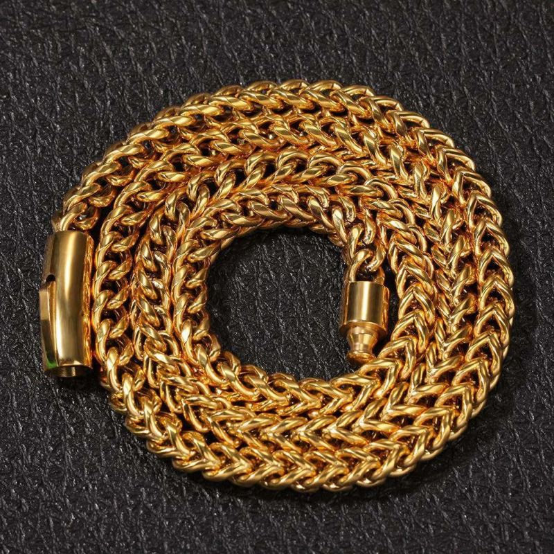 "8mm 24"" 18K Gold Finish Franco Chain"