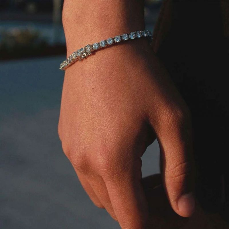 5mm Single Row Tennis Bracelet in White Gold
