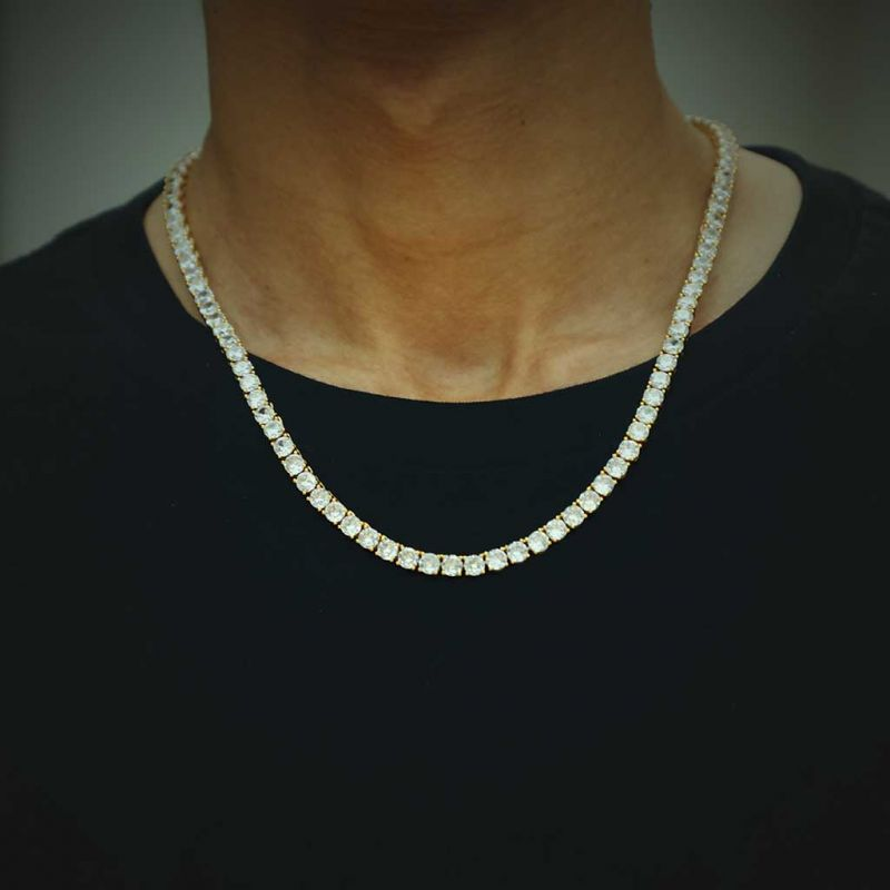 5mm Tennis Necklace in Gold