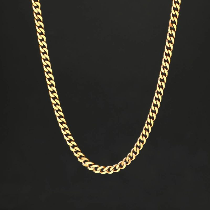 "Rope Chain 24"" in Gold"