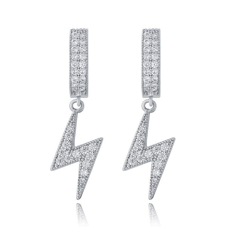 Iced Eclair Dangling Earrings