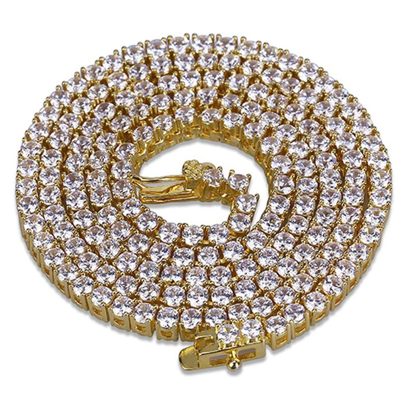 6mm Tennis Chain in Gold