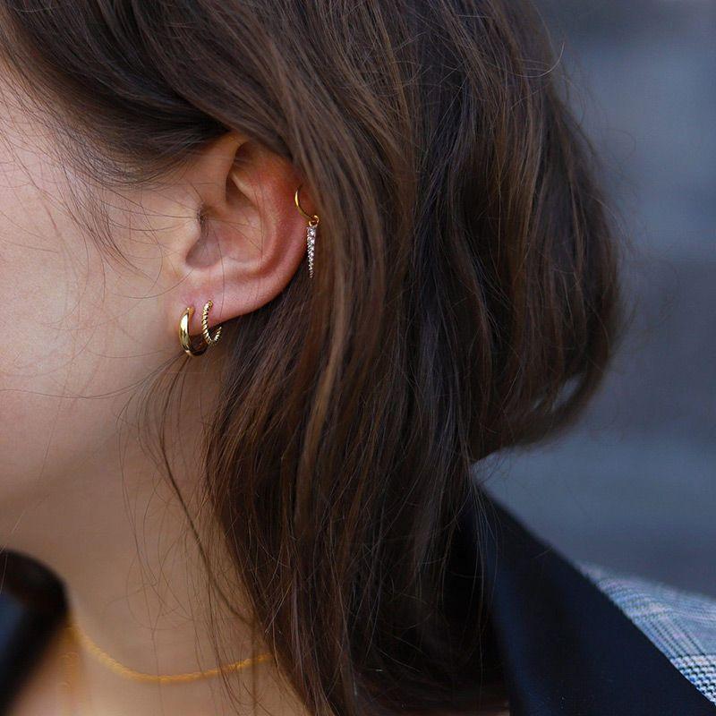 Helical Hoop Earring
