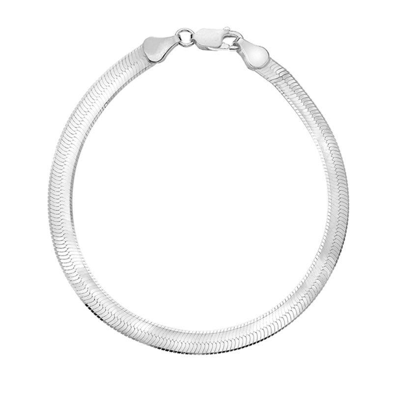 6mm Titanium Steel Herringbone Bracelet