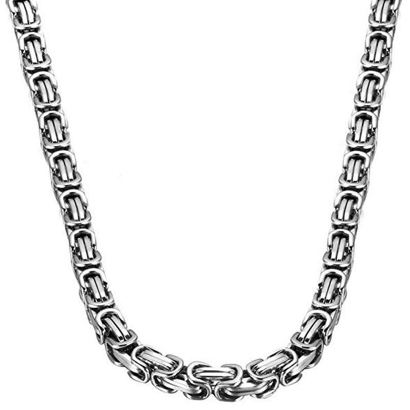 8mm Titanium Steel Byzantine Chain