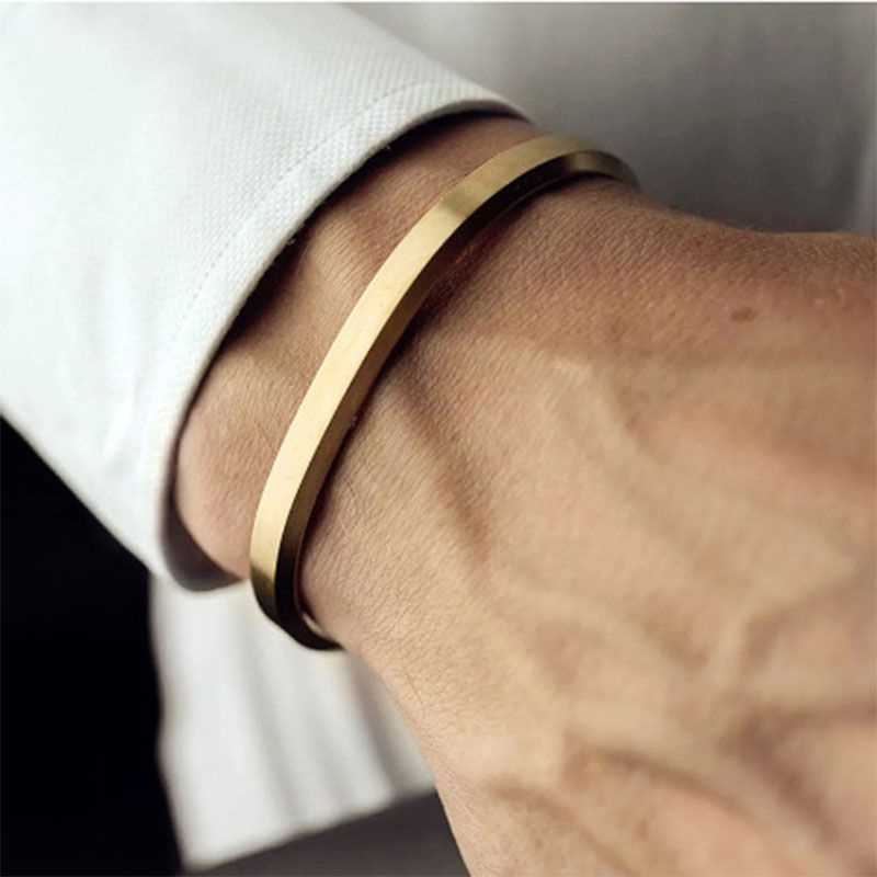 Simple and Stylish 6mm Stainless Steel Open Bracelet